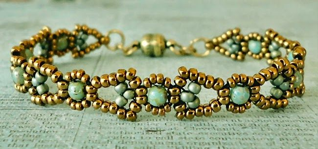 Linda's Crafty Inspirations: Free beading pattern: Art Deco Chain with Pearls