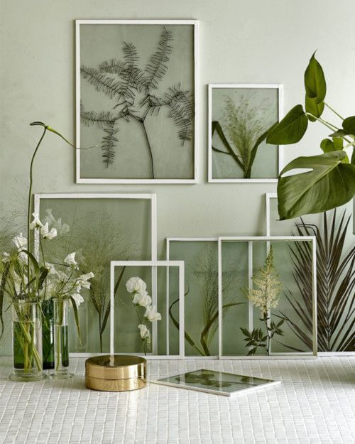 bloemenprints gedroogde bloemen - interiortales