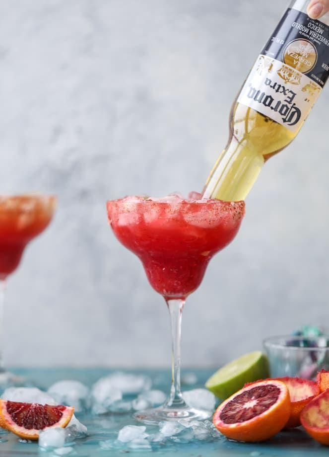 spicy blood orange beergaritas I howsweeteats.com #cocktailrecipes