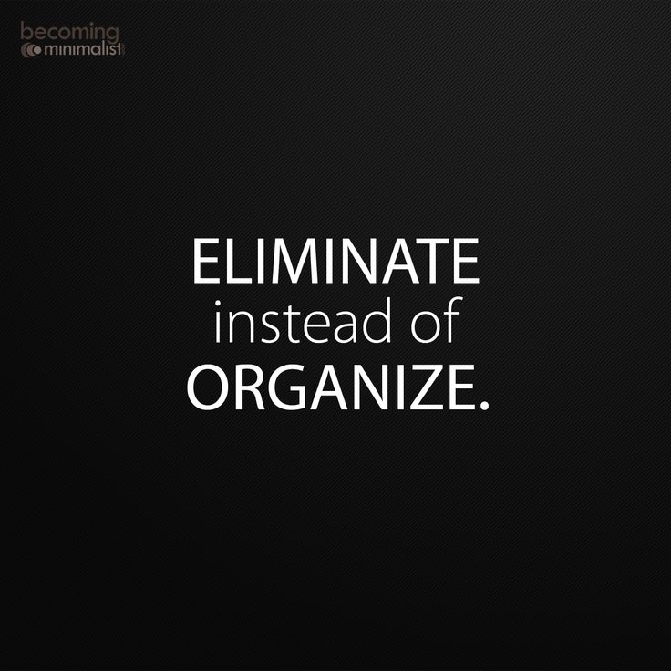 via Becoming Minimalist. I mean, by all means organize what you keep, but PURGE FIRST.