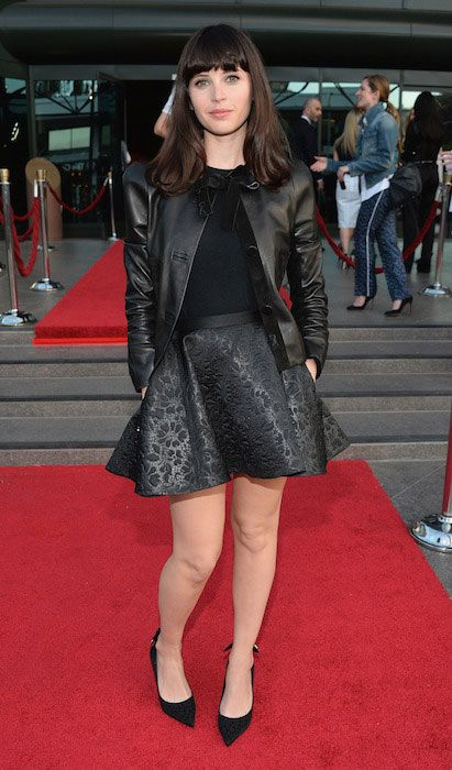 Felicity Jones at the Los Angeles premiere of A24's 'The Bling Ring' at the Directors Guild Theater on June 4....