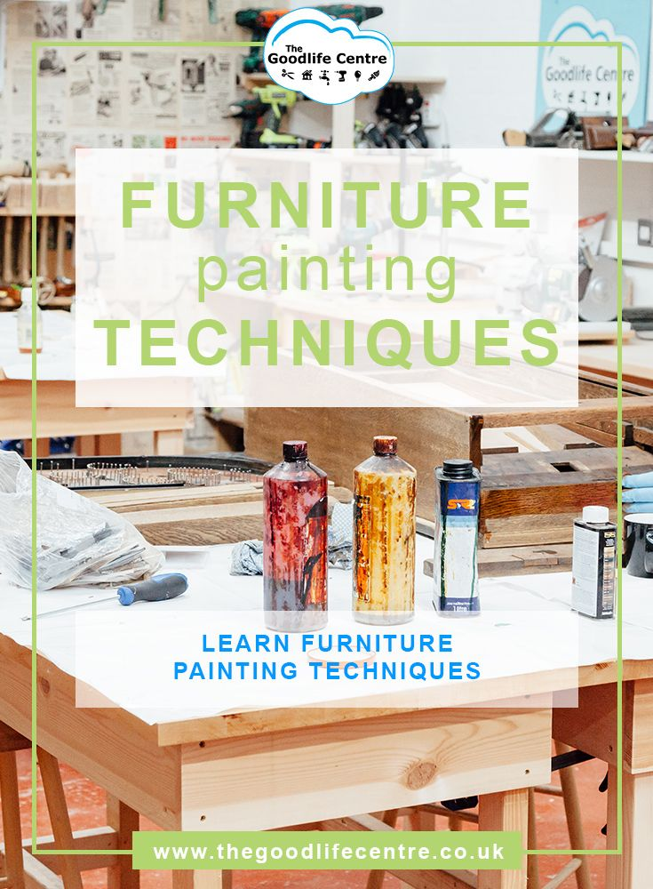 Learn furniture painting techniques. Painting wood furniture.