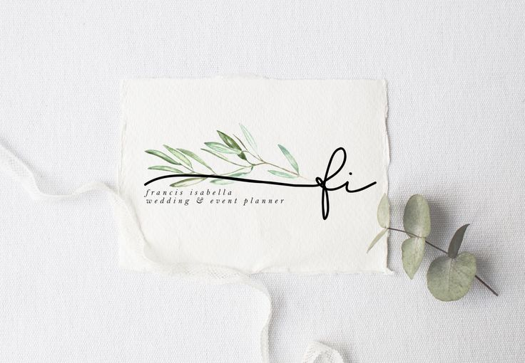 premade logo design · olive branch initial · watermark logo · boho logo · photography logo · branding kit · watercolor small business logo by saltandcove on Etsy https://www.etsy.com/listing/459424910/premade-logo-design-olive-branch-initial