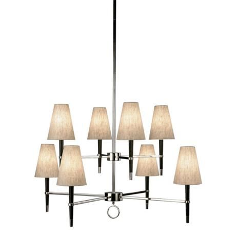 Jonathan adler ventana two tier nickel chandelier