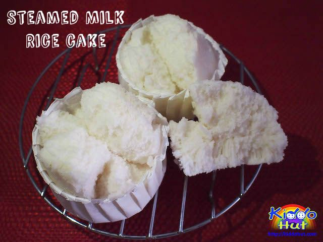 Improvised from my steamed milk cake, I have replaced the cake flour with rice flour. Here is the recipe to healthier choice - steamed milk rice cake.