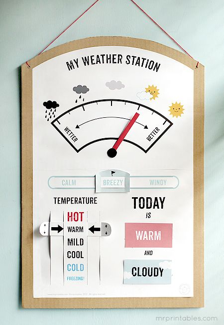 Free printable Weather Station activity