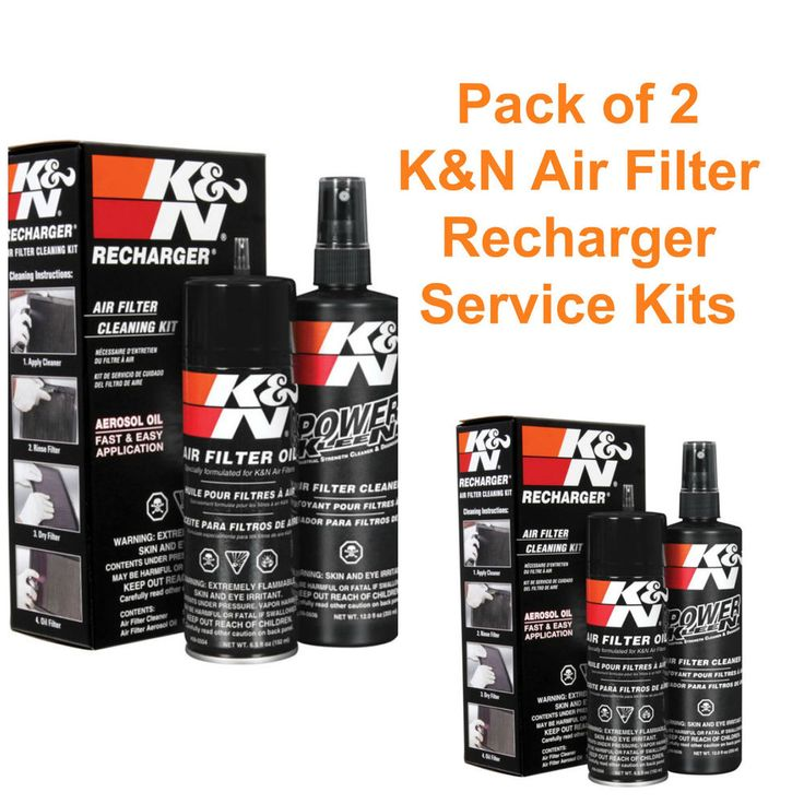 Same Business Day Shipping K&N 99-5000 Air Filter Cleaning Service Kit Oil Cleaner (PACKAGE OF 2) 99-5000