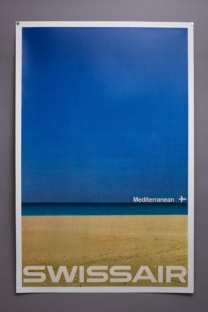 Swissair – Mediterranean poster | Flickr - Photo Sharing!