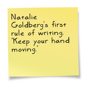 Image result for keep your hands moving writing