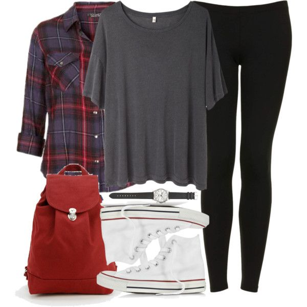 Stiles Inspired Outfit with Leggings and High Top Converse by veterization on Polyvore featuring moda, R13, Topshop, Converse, BAGGU and J.Crew
