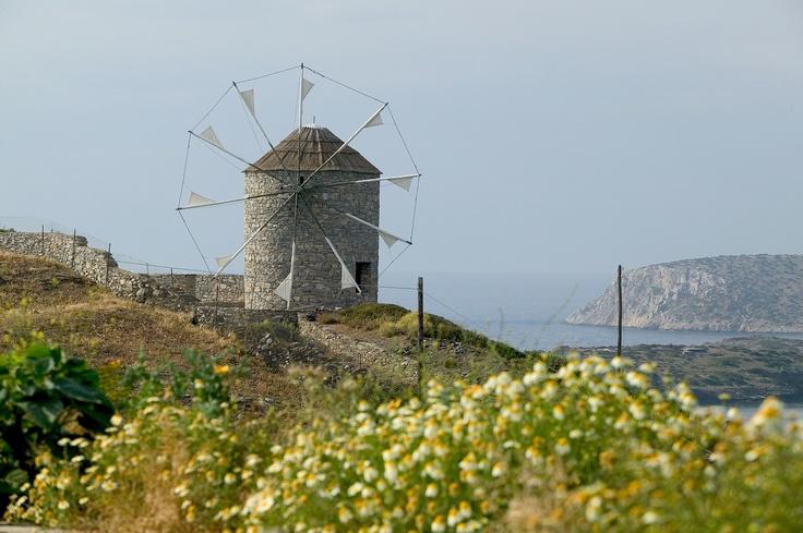 Visit Greece/ Windmill in Schinousa island