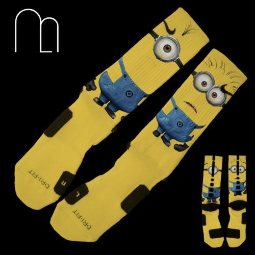 Details About Custom Nike Elite Socks Minions Despicable