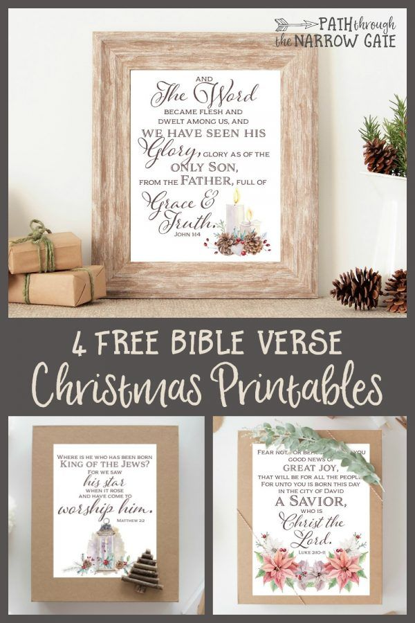 Gorgeous free Bible Verse printables - perfect to place in 8 x 10 frames, or to give away as gifts.