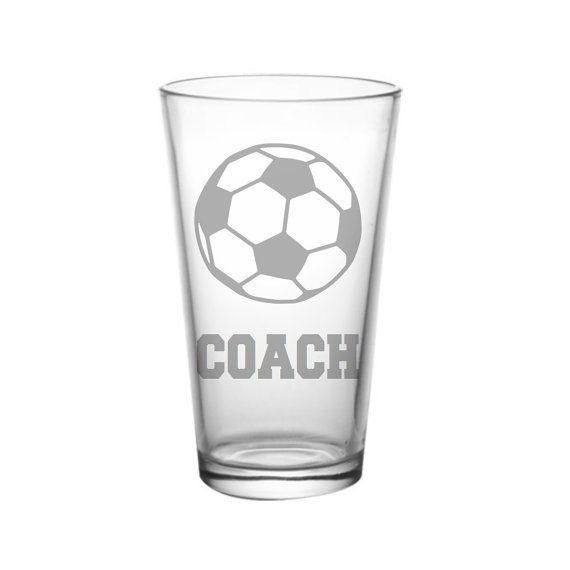 Soccer Coach Pint Glass, Soccer Coach Gift Idea, Soccer Christmas Gift, Beer Gift, Coach Christmas Gift, Soccer Glass, Futbol Gift