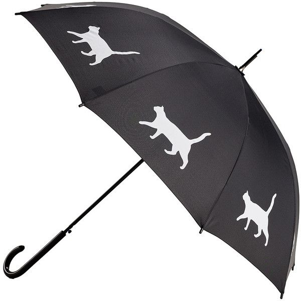 The San Francisco Umbrella Company Cat In The Rain Umbrella (120 BRL) ❤ liked on Polyvore featuring home, home decor, small item storage, collapsible walking stick and cat home decor