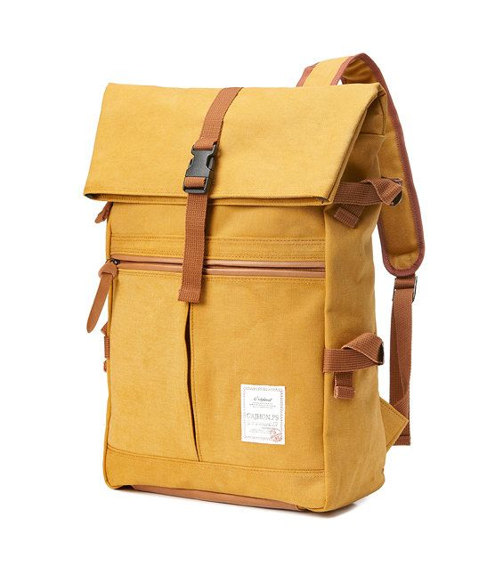 Tidy Urban Cotton Backpack (Mustard)