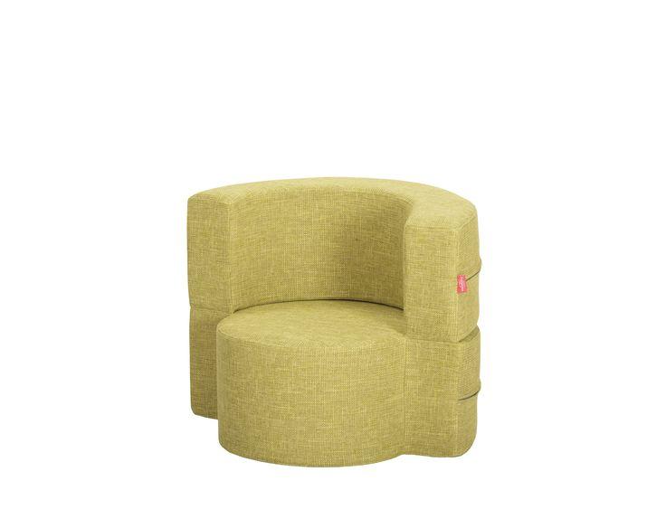 Mini-Macaron Modular Armchair / Colour: Green Tea #modular #armchair #cool #comfort #creative #foam #colourful #young #pouf #ottoman