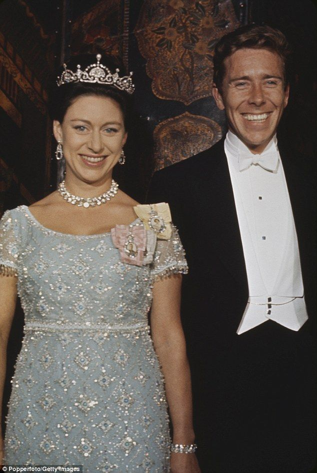 dailymail:  Princess Margaret and the Earl of Snowdon, 1970s; Margaret is wearing the Papyrus/Lotus Flower Tiara and the Family Order of her father, grandfather and sister