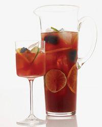 Blackberry and Cabernet Caipirinhas!  One of my favorite make ahead signature drinks!