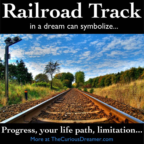 Railroad tracks in a dream can symbolize...   More at TheCuriousDreamer.  #DreamMeaning #DreamSymbol