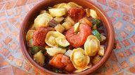vegansk pasta med grønnsaker oppskrift