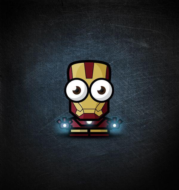 Corpo pequeno. Olhos grandes. Essa foi a ideia que o design gráfico Ahmad Kushha teve para retratar alguns super heróis como o Lanterna Verde e Homem-Aranha…