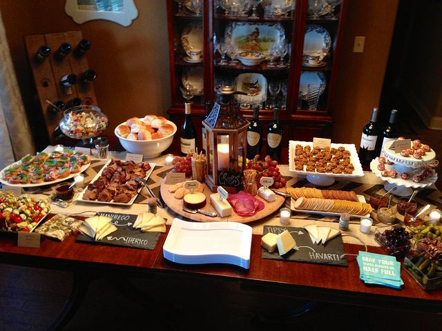 Great cheese & meat spread for a wine tasting party