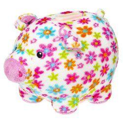 Plush Floral Piggy Bank