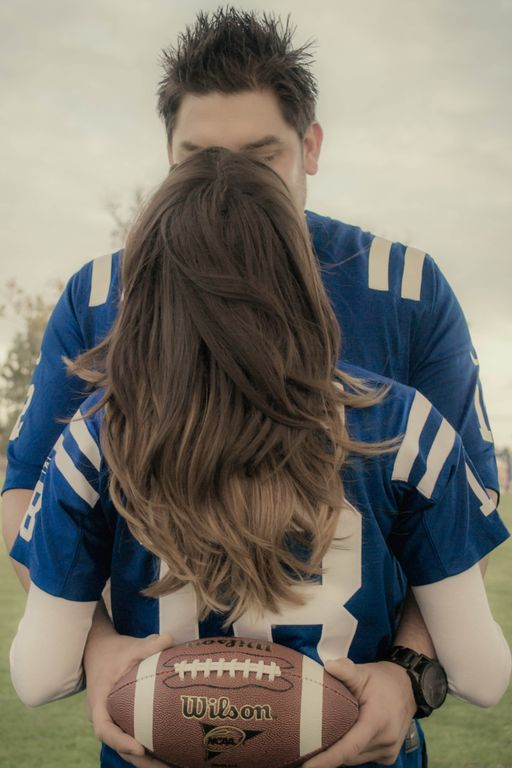Engagement football photo