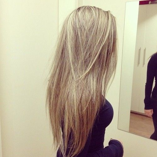 Even long, straight hair can have personality!