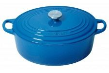 Le Creuset Marseille Blue Oval French Oven 29cm