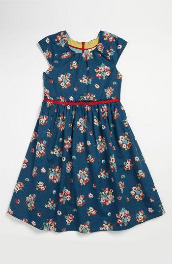 Vintage Print Party Dress   Dusty Sapphire Posy