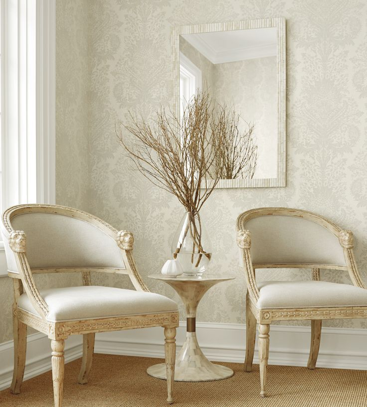 Naturals & Neutrals | Cachemire Wallpaper by Thibaut | Jane Clayton