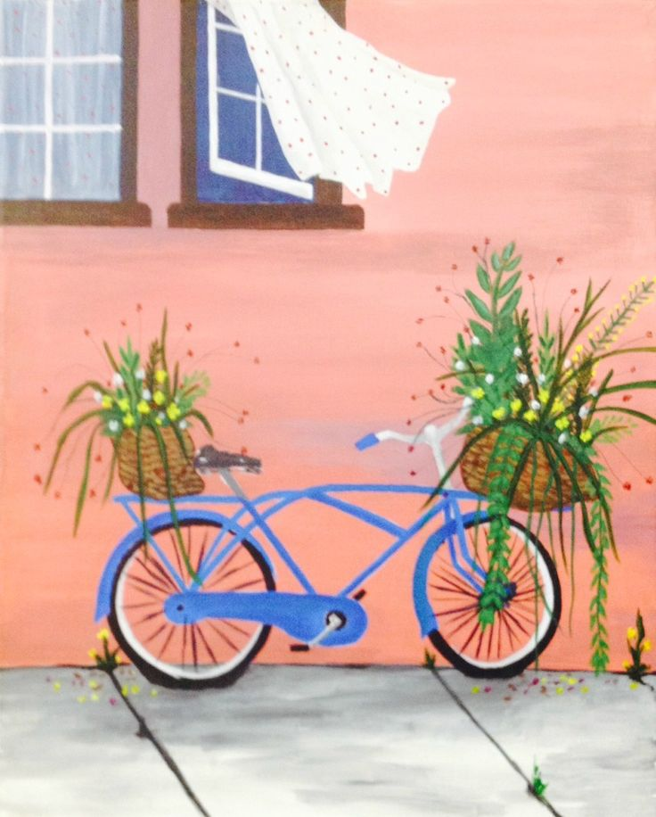 The gorgeous Bicycle Bouquet is a great addition to anyone's home. Paint it with us today and we'll teach you all the steps!