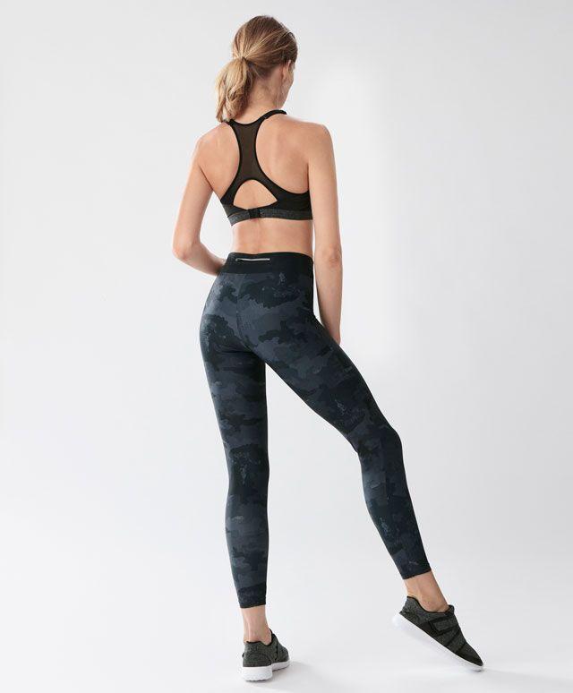 Legging camuflaje tobillero - Leggings - Tendencias AW 2016 en moda de mujer en Oysho online: ropa interior, lencería, ropa deportiva, pijamas, moda baño, bikinis, bodies, camisones, complementos, zapatos y accesorios.