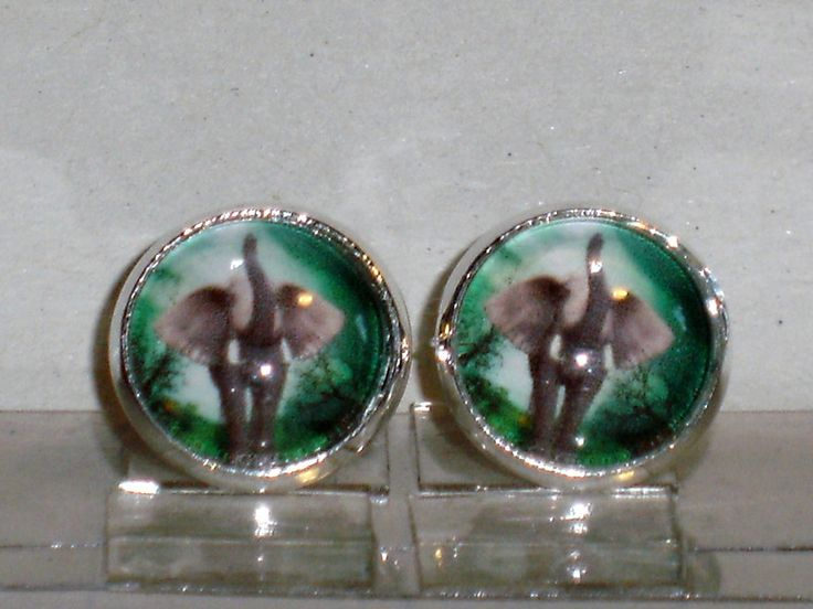 Ohrstecker - Ohrstecker Elefant Ohrringe Damen Ohrschmuck Glas - ein Designerstück von ausgefallene-Ohrringe bei DaWanda