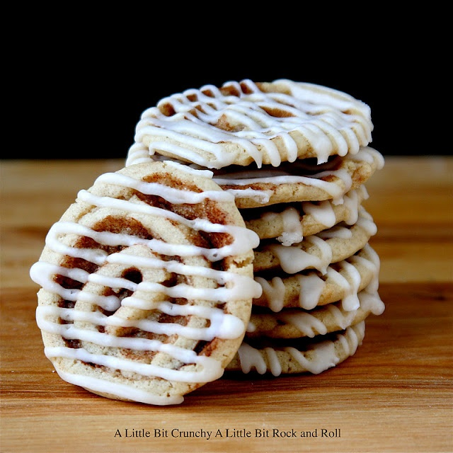 Cinnamon Bun Cookies.  These are seriously sooo delish - I use vanilla bean paste in the dough and icing.