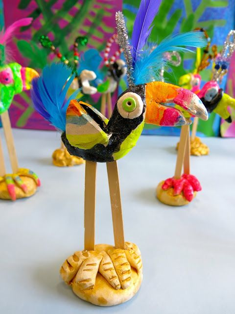 Cassie Stephens: In the Art Room: Exotic Birds UPDATE!