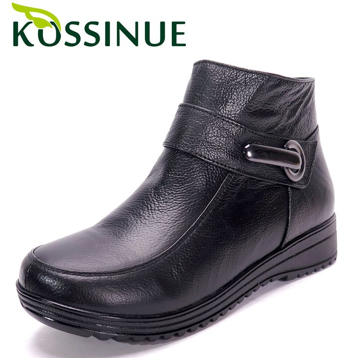 Plus size(35-43) genuine leather fashion boots women flat ankle boots winter female shoes boots snow boots casual women shoes