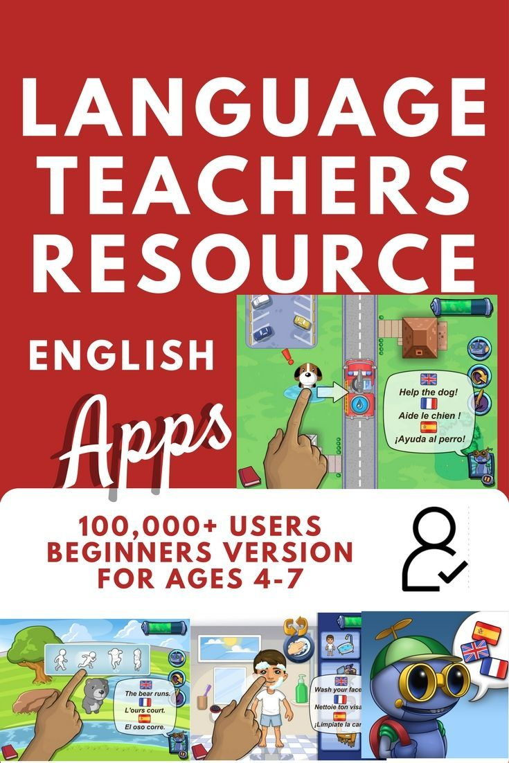Great English language learning app for beginners ages 4-7. Overwhelming reception from more than 100,000 users in 50 countries. In French and Spanish for dual language learners too