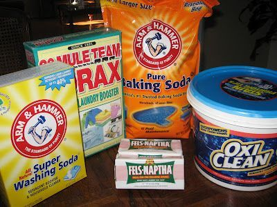 """Powdered Laundry Soap recipe-- I have been using this for several months now, and have no complaints. I also added a container of """"scent booster"""" to the recipe for a clean smell."""