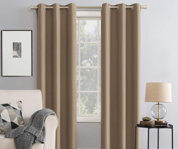 Broyhill Asher Tan Blackout Grommet Curtain Panel 84 Big Lots In 2020 Grommet Curtains Panel Curtains Curtains
