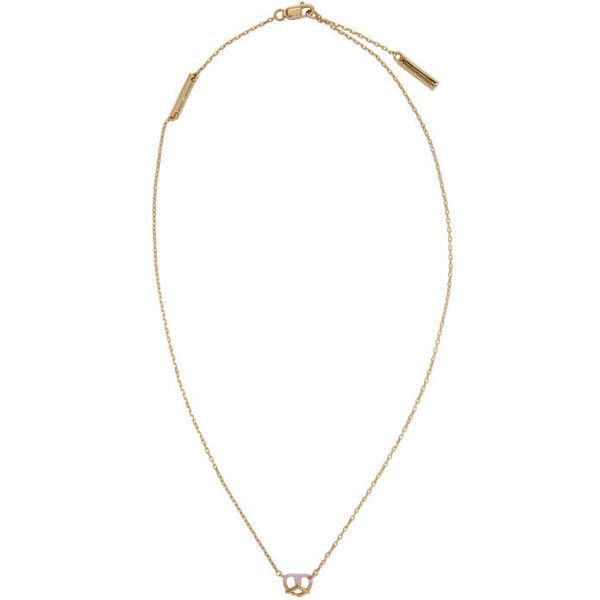 Marc Jacobs Gold Dipped Pretzel Necklace (300 BRL) ❤ liked on Polyvore featuring jewelry, necklaces, gold, marc jacobs necklace, chain link jewelry, red ruby necklace, marc jacobs jewellery and marc jacobs jewelry