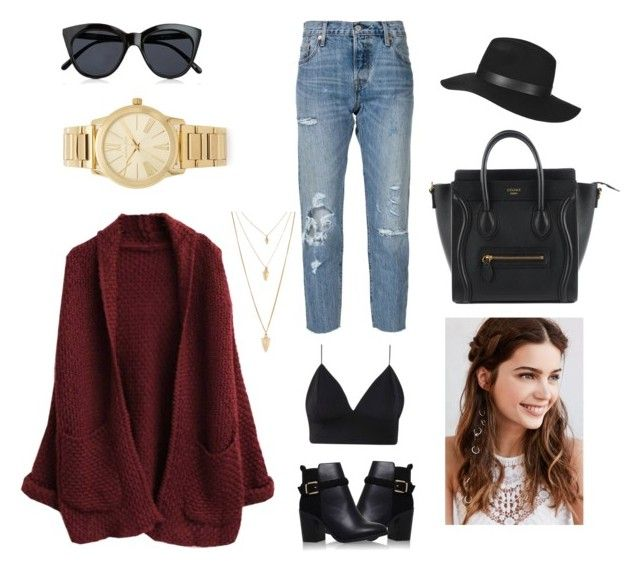 """""""Untitled #79"""" by rbanahi on Polyvore featuring Levi's, Le Specs, Topshop, Michael Kors, REGALROSE and Forever 21"""
