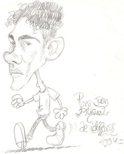 Caricatura que me hizo el famoso Idigoras