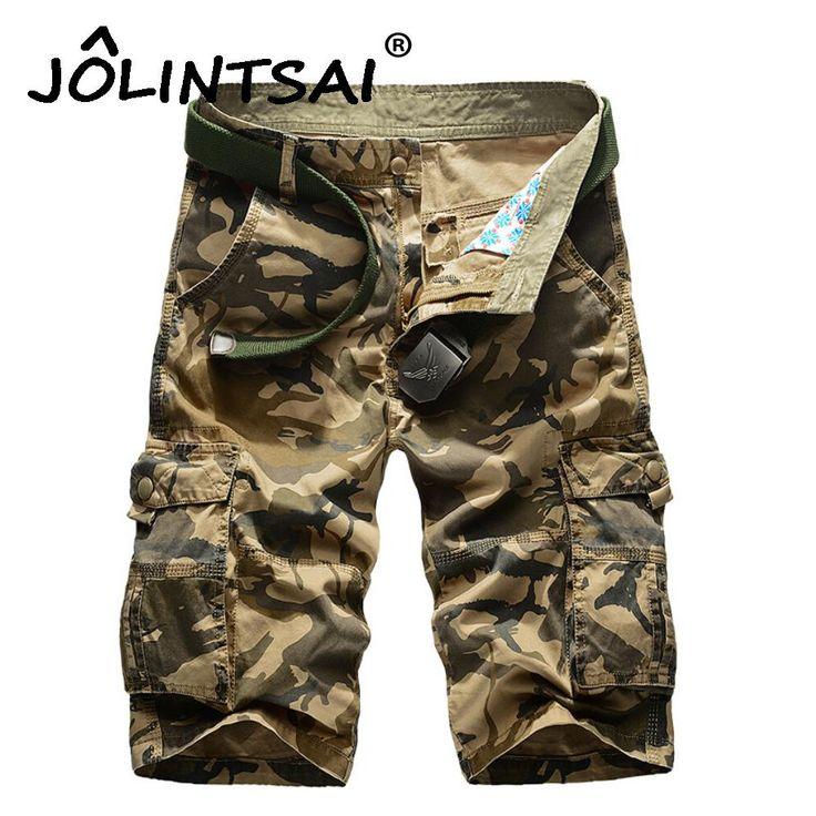 New 2017 Men's Casual Camouflage Shorts Men Loose Cargo Shorts Men Large Size 29-44 Multi-pocket Military Short homme