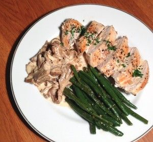 Chicken breasts with oyster mushrooms – FrenchSelections.com Recipes   – Food and Drinks!