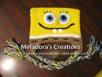 Bob the Sponge Beanie - Meladora's Creations Free Crochet Patterns & Tutorials