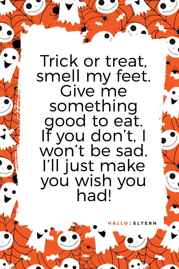 30 Halloween Sprüche Für Kleine Geister Und Monster