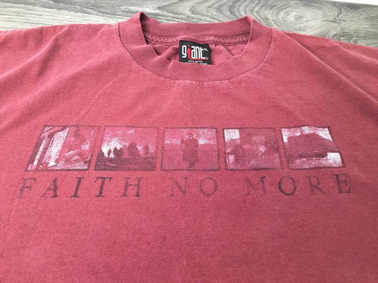 Faith No More 90s Tshirt Promo Concert MIMICVII Funk Metal Shirt Band Experimental Rock FNH Giant Tag Tee XL by sweetVTGtshirt on Etsy